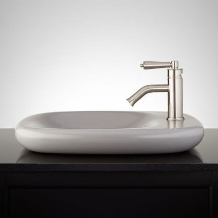 Averell Porcelain Vessel Sink - Gray Factory Possibilities