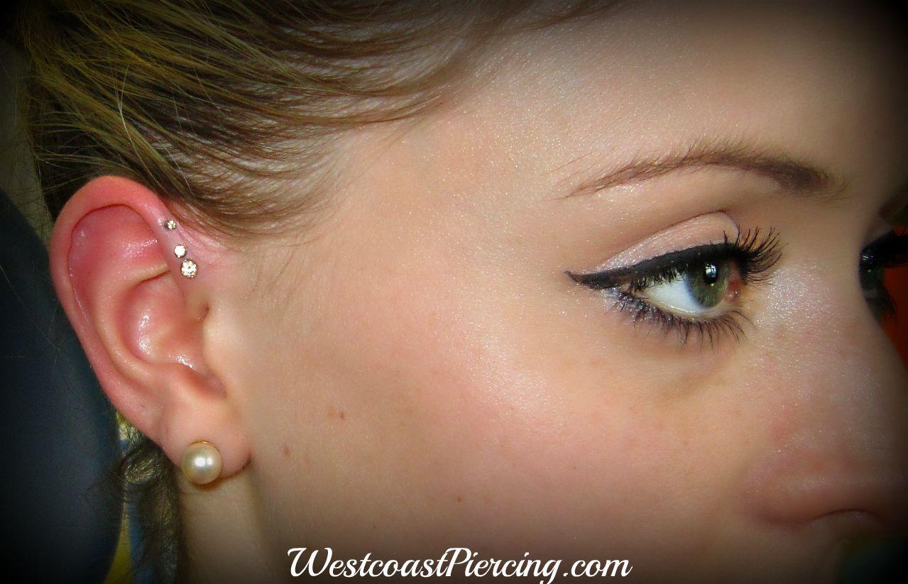 helix piercing | ... descending sizes for her new triple helix piercings piercing by jewels