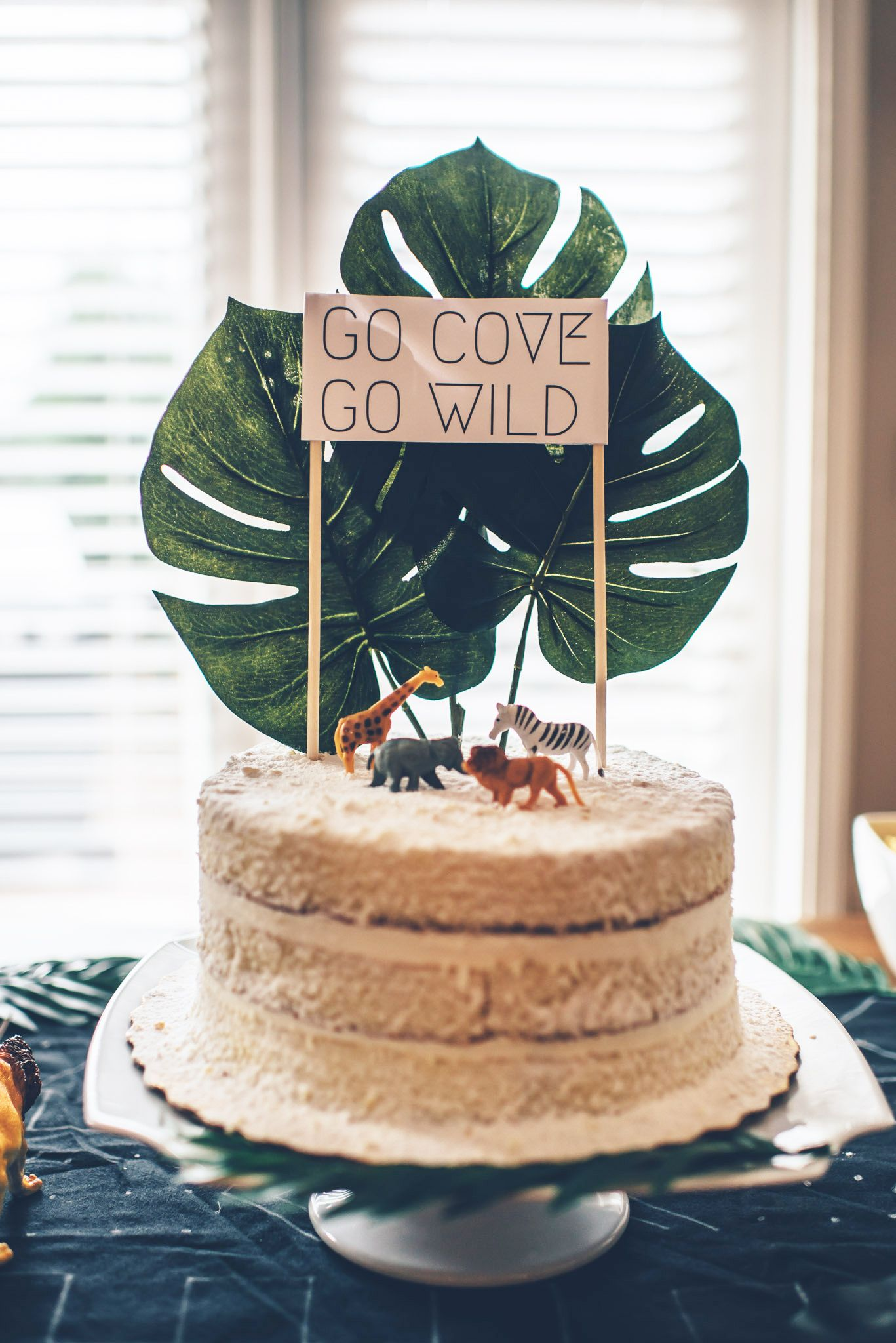 Readers Favorite Coves Modern Jungle First Birthday Party