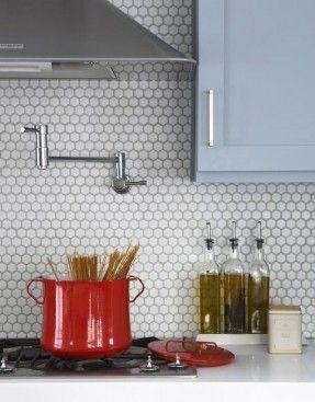 Hexagon Tile Backsplash