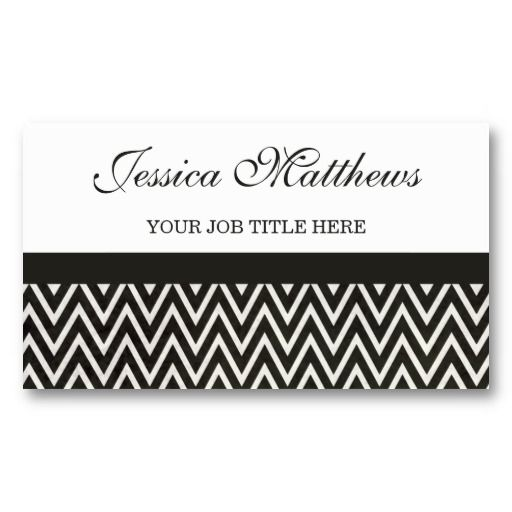 Black white chevron business cards 2295 business card designs black white chevron business cards 2295 colourmoves Gallery