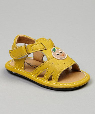 Yellow Fruit Sandal by Ameta Corporation #zulily #zulilyfinds