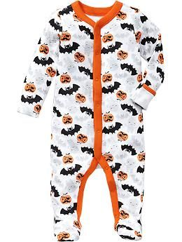halloween print footed sleepers for baby old navy