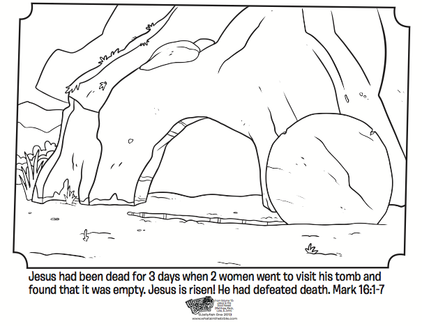 Empty Tomb Easter Coloring Page Resurrection Sunday