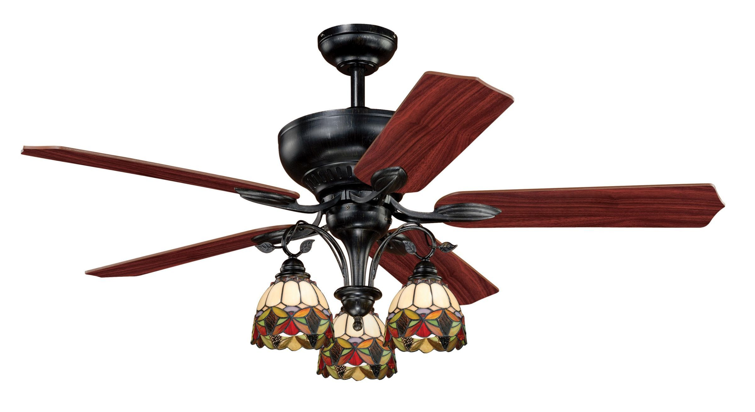 Vaxcel Lighting French Country Ceiling fan with light