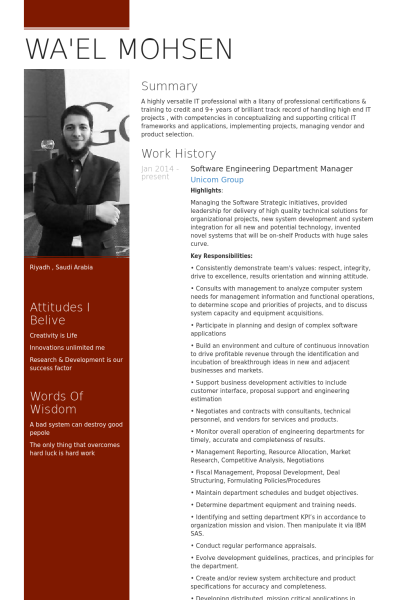 Software engineering department manager resume example 1 software engineering department manager resume example yelopaper Images