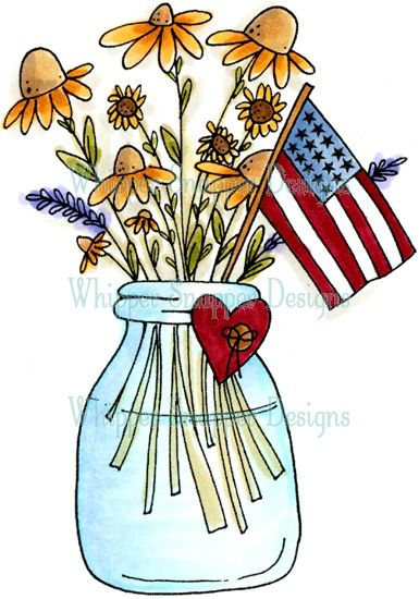 Patriotic Flowers | Summer clipart, Watercolor cards ...