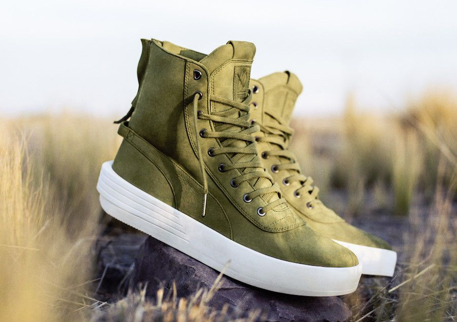 Puma XO Parallel Weeknd Olive Green Boots Weekend
