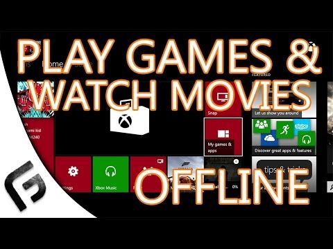 HOW TO PLAY XBOX ONE GAMES OFFLINE Works 100 YouTube