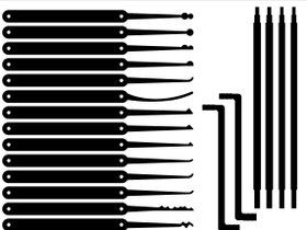 Rake lock pick templates pin lock pick templates printable for Lock pick rake template