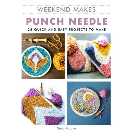 Punch Needle is one of the hottest trends in needlecraft right now. It's fun and its fast! With 25 quick and easy punch needle designs,  this book is great way to learn the craft or challenge yourself with a new design idea. This title introduces you to the basics of the craft, including the materials you need, marking your fabric, and the basic stitches and techniques. There are also tips for successful stitching, guiding you through the process of making some stunning projects in very little t