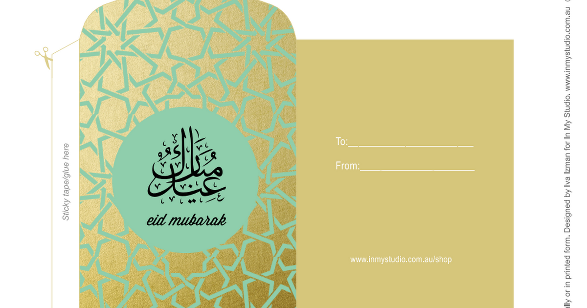 Money Packets By Ims Pdf Eid Cards Eid Envelopes Diy Eid Gifts