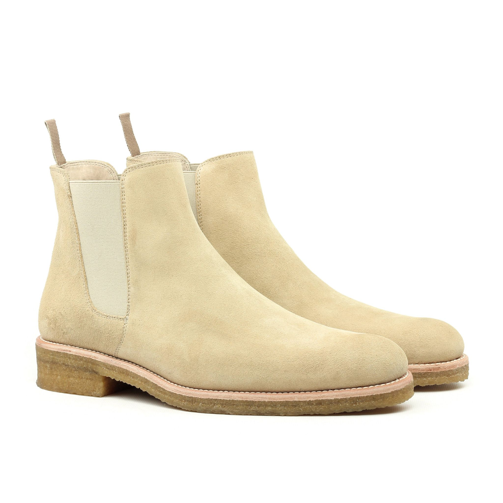 our new signature summer exclusives the beige crepe chelsea boots