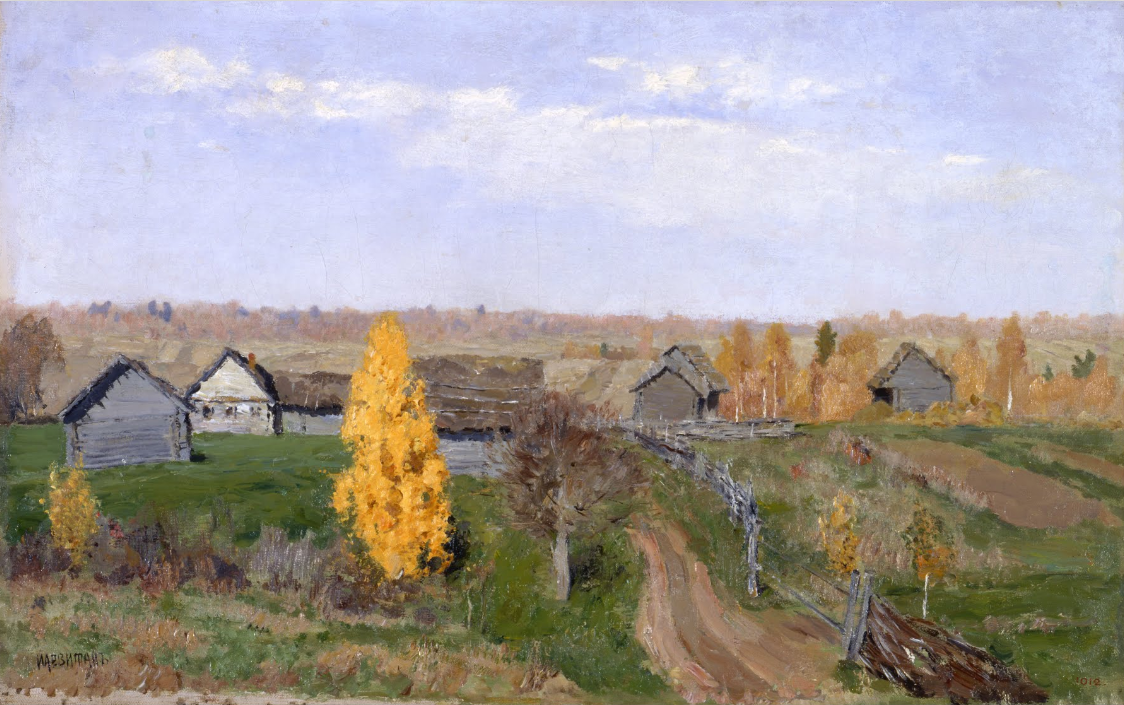 Isaak Levitan, Golden Autumn. Composition of the painting