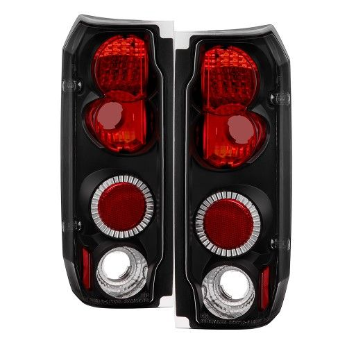 Black 1987 1996 Ford F150 F250 F350 Bronco Tail Lights Brake Lamps Left Right Car Ford Ford Bronco Ford F150