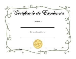 diplomas de excelencia para imprimir