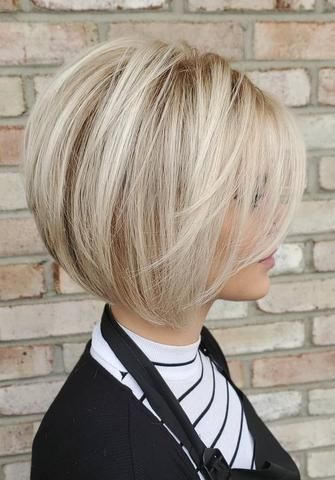 Medium Length Hairstyles For Thin Hair In 2020 Blonde Bob Haircut Medium Length Hair Styles Cute Bob Hairstyles