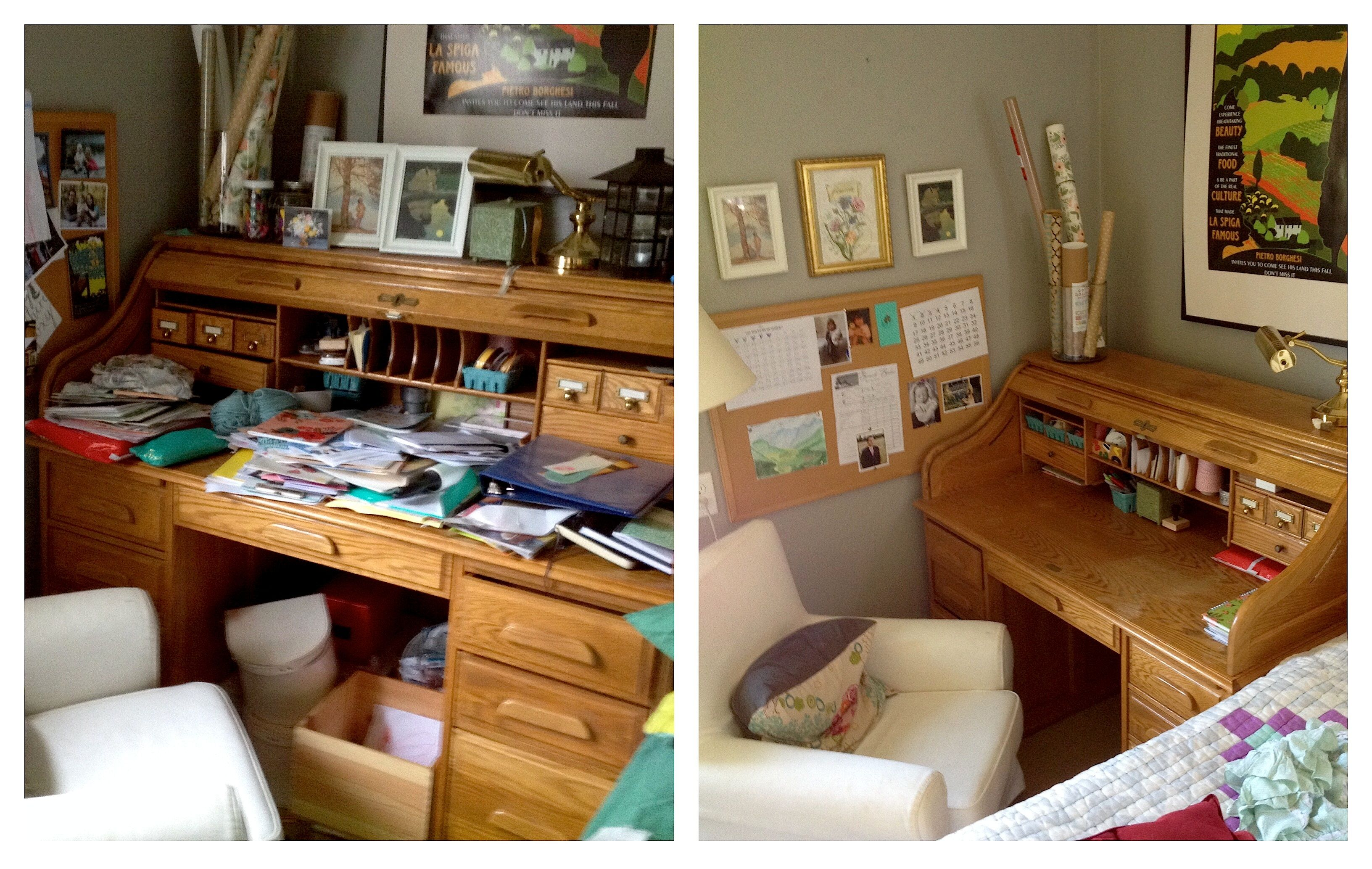 desk before after konmari method konmari method in 2019. Black Bedroom Furniture Sets. Home Design Ideas