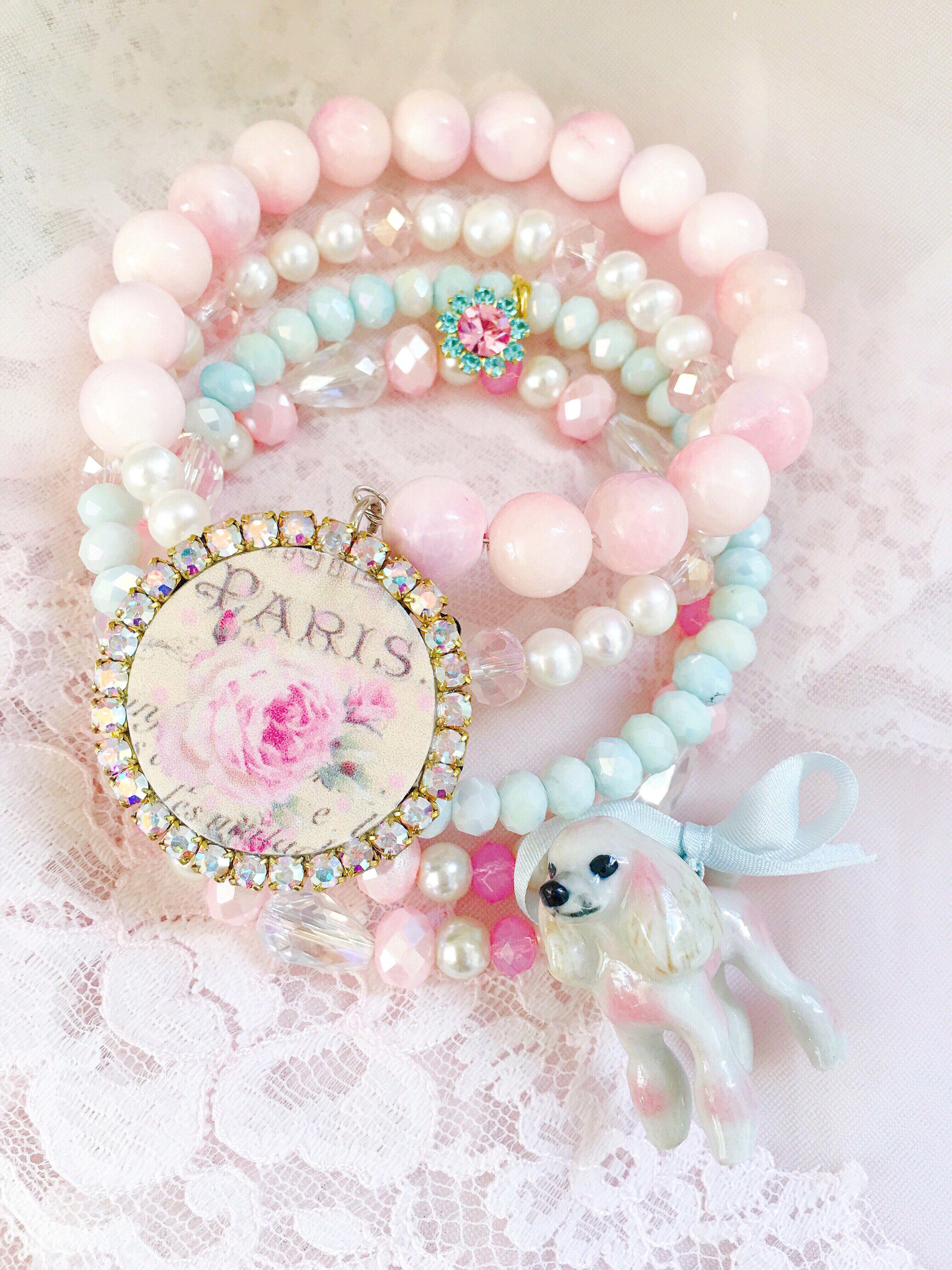Poodle Paris Charm Bracelet By Jennifer Hayslip Jenniferhayslip  #poodle #paris