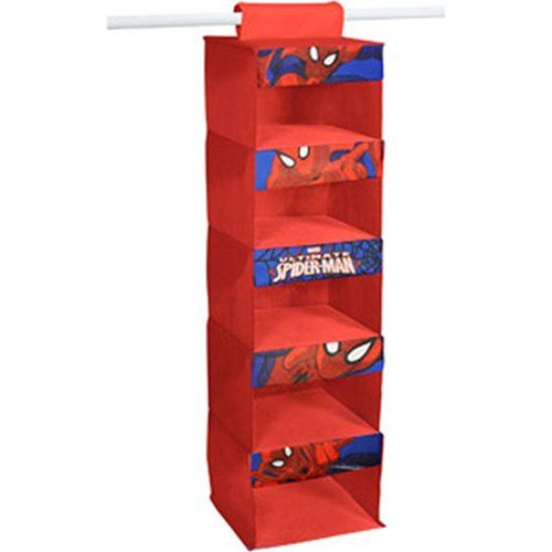 Marvel Ultimate Spider-Man 5-tier Hanging Closet Organizer for Children Marvel http://smile.amazon.com/dp/B00KN0VP6A/ref=cm_sw_r_pi_dp_XUG9ub06KBHHA