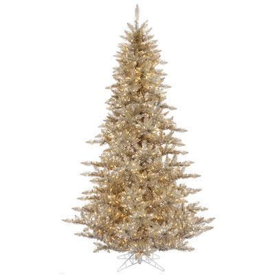Northlight 55\u0027 Champagne Fir Artificial Christmas Tree with 400