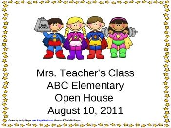 Open House/Back to School PowerPoint Presentation SuperHero Kids ...