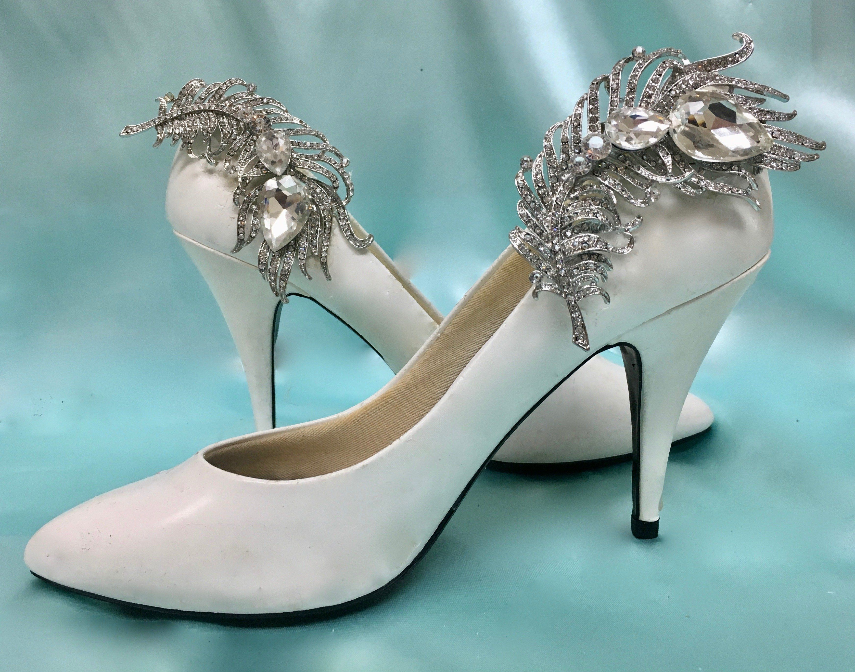 Bridal Formal Shoe Clips, Wedding Gown Accessory | Shoe clips and ...
