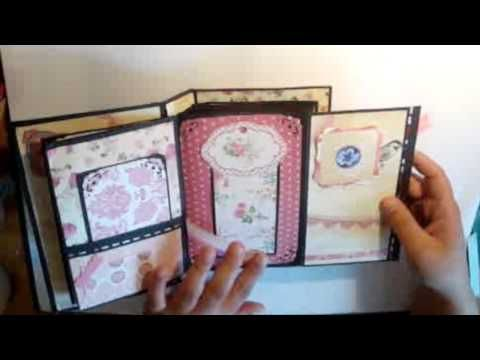 tutoriel r aliser un mini album et sa reliure scrapbooking youtube album rectangle. Black Bedroom Furniture Sets. Home Design Ideas