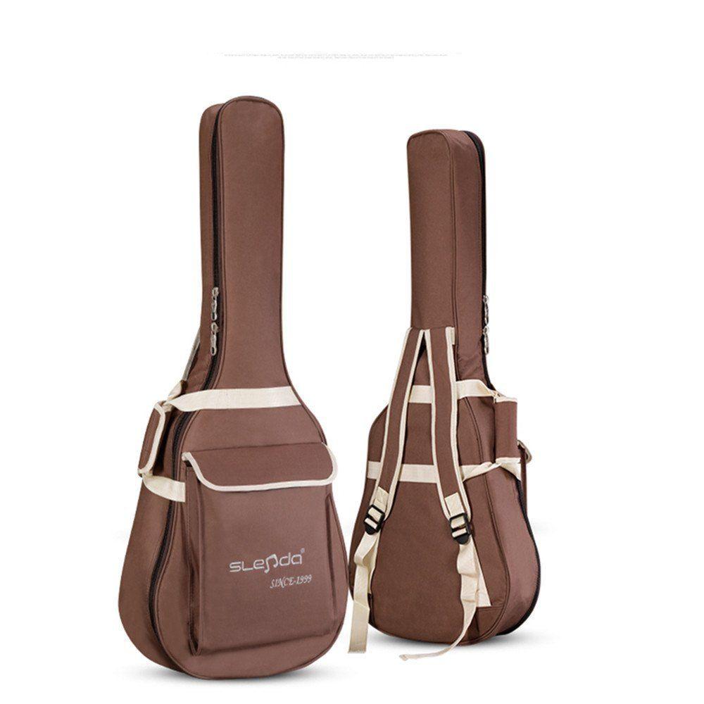 Amazon Eleoption Brown Guitar Case 37 99 Guitar Bag Bags Guitar Accessories