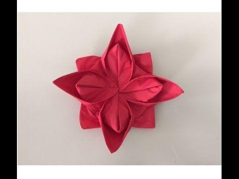 servietten falten anleitung stern f r weihnachten basteln. Black Bedroom Furniture Sets. Home Design Ideas