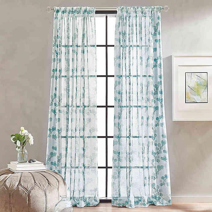Peri Home Kelly Floral Sheer Rod Pocket Window Curtain