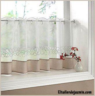 Visillo Más | cortinas | Pinterest | Visillos, Cortinas y Cortinas