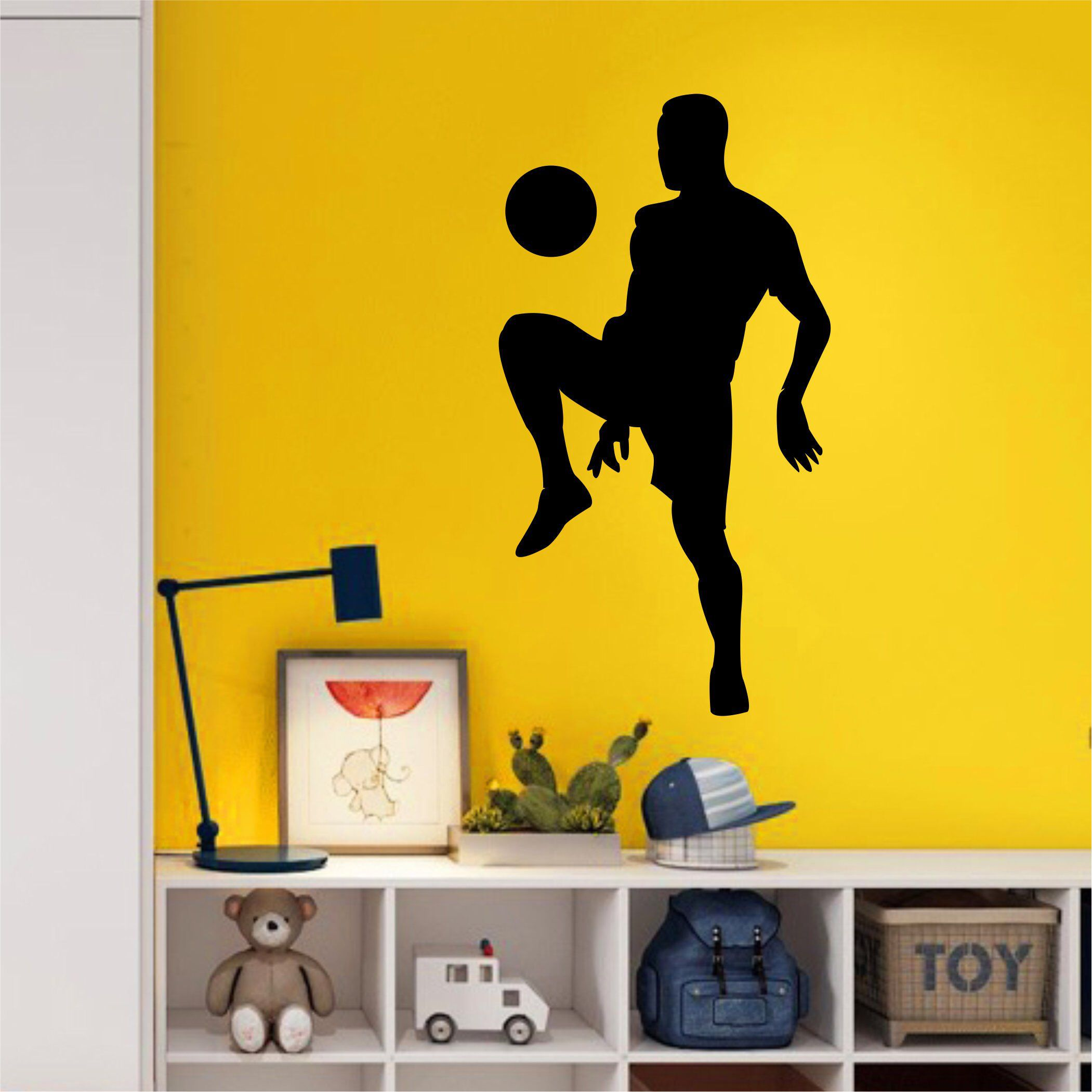 Soccer Wall Decal - LARGE Wall Art - Kids Room Art - Boys Bedroom ...