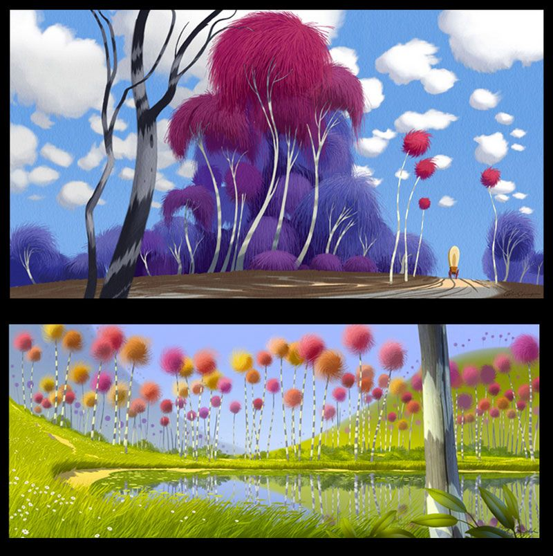 Dr Seuss The Lorax Movie Script: Environments: Plants And Trees