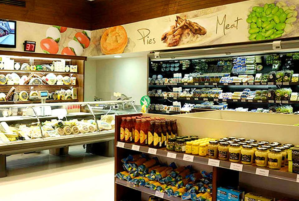 Grocery Store Interior Fresh Look Retail Grocery Store