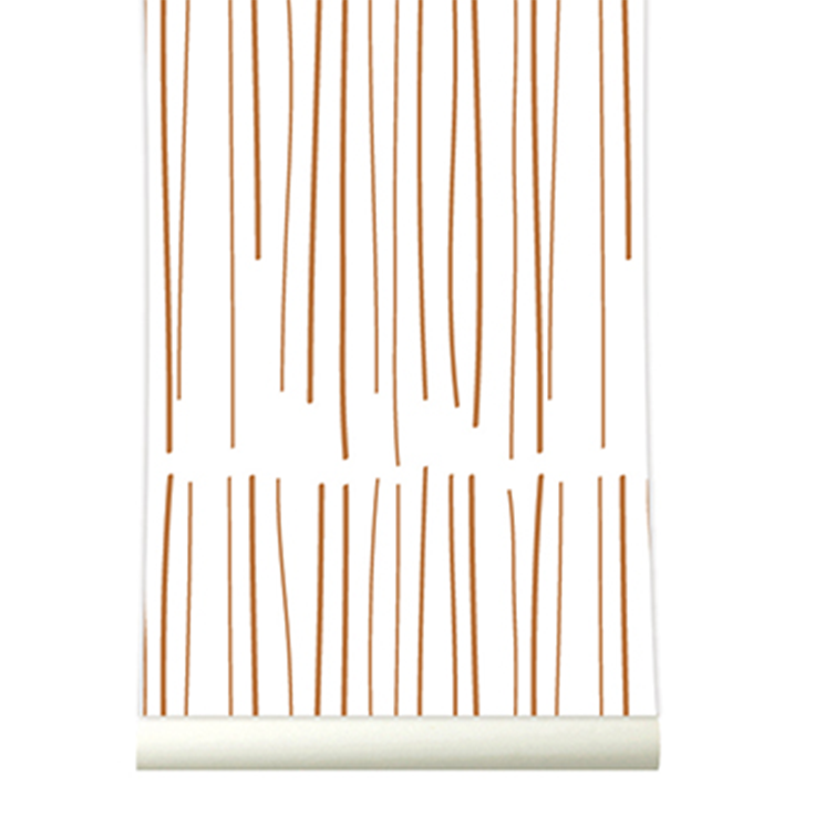 Roomblush behang wallpaper rain copper behangpapier woonkamer slaapkamer interieur design muurdecoratie