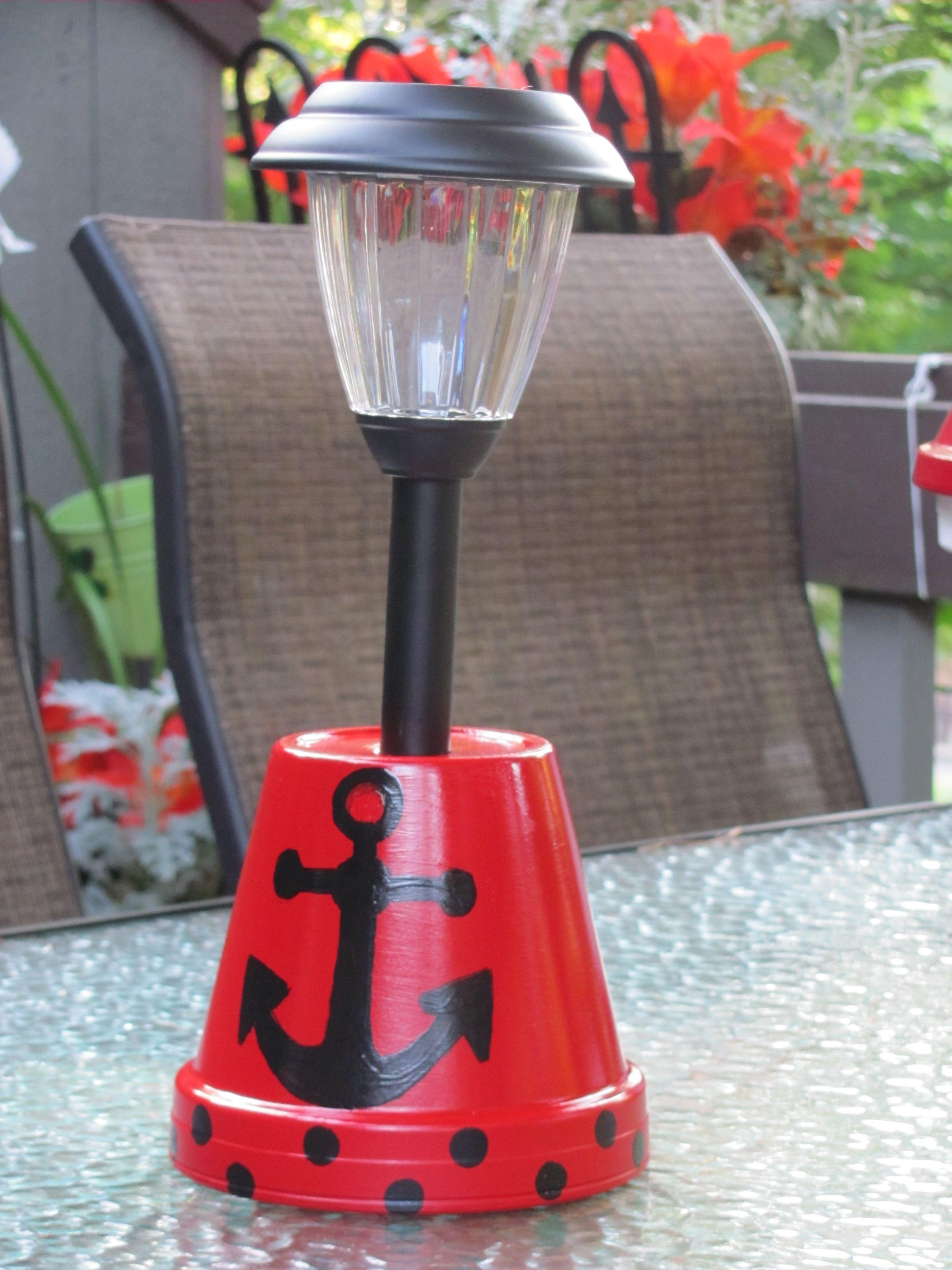 Anchor Solar Light Holder Made By Angela Diy Flower Pots