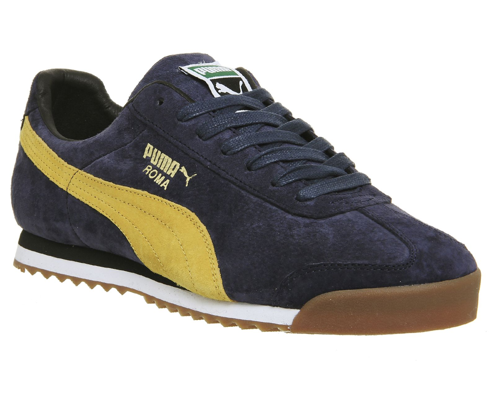 Puma, Roma, Navy Yellow Suede Exclusive | Cheap puma shoes
