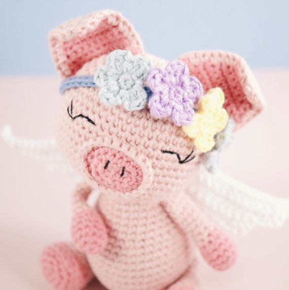 Amigurumi crochet cute pig - Pippa the pig PATTERN ONLY (English ...