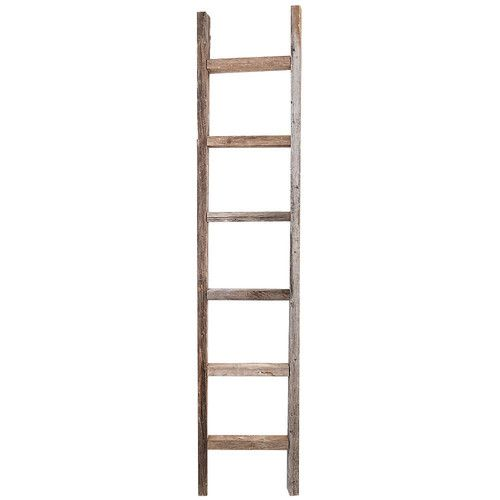 Found It At Wayfair 6 Ft Wood Decorative Straight Ladder With Images Ladder Decor Old Wooden Ladders Wooden Ladder
