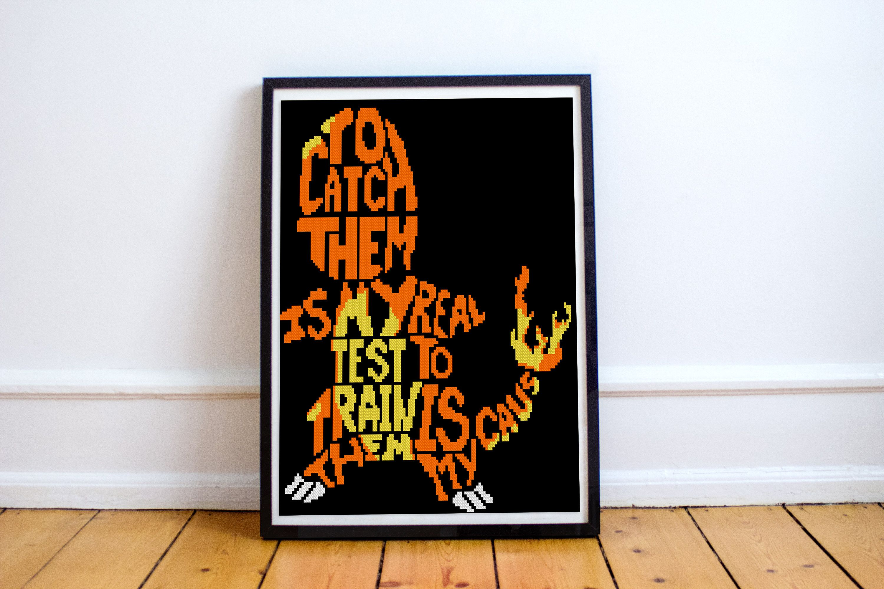 Bogo freepokemon charmander cross stitch pattern song
