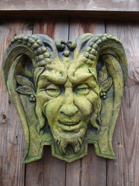 Garden wall plaques - Pan Green Man Decorative Wall Plaque Amazon Co Uk Garden Outdoors