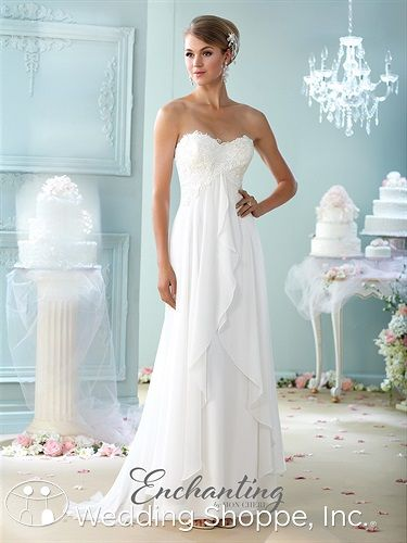 Enchanting by Mon Cheri 215108: A romantic lace and chiffon empire ...
