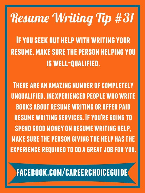 Resume Writing Quick Tip - It is almost never a good idea to go back - resume writing services near me