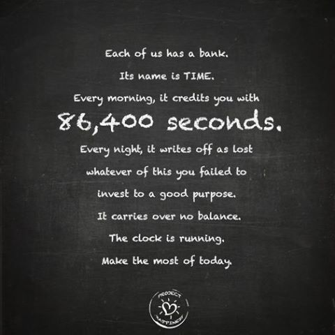 Image Result For Seconds In A Day Spend Motivational Quotes For Life Quote Of The Day Quotable Quotes