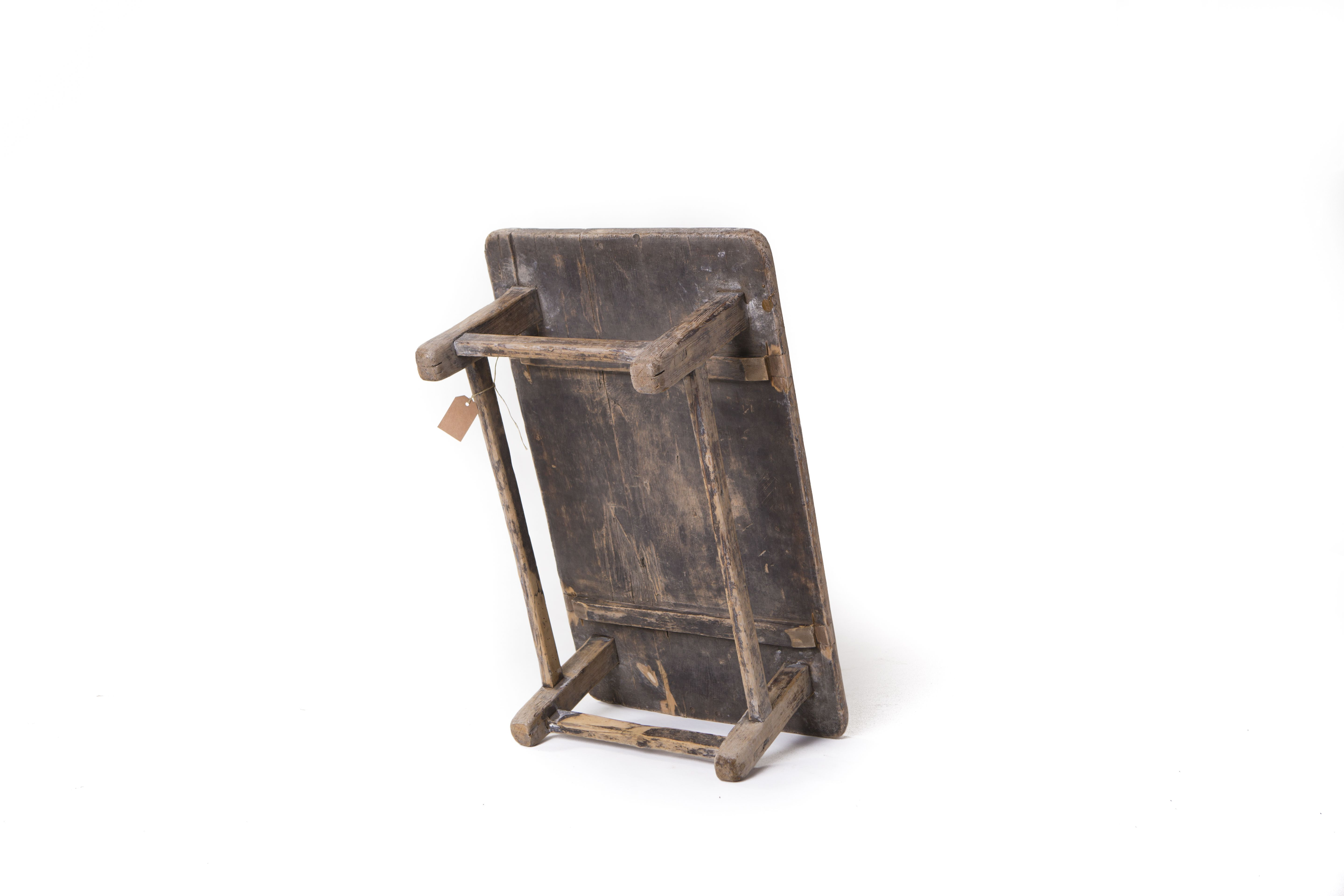 Old Rustic Chinese Side Table Wooden Side Table Rustic Side