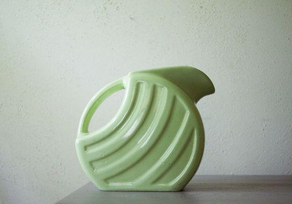 Vintage Alamo Pottery Pitcher  Mid Century Modern  by susantique