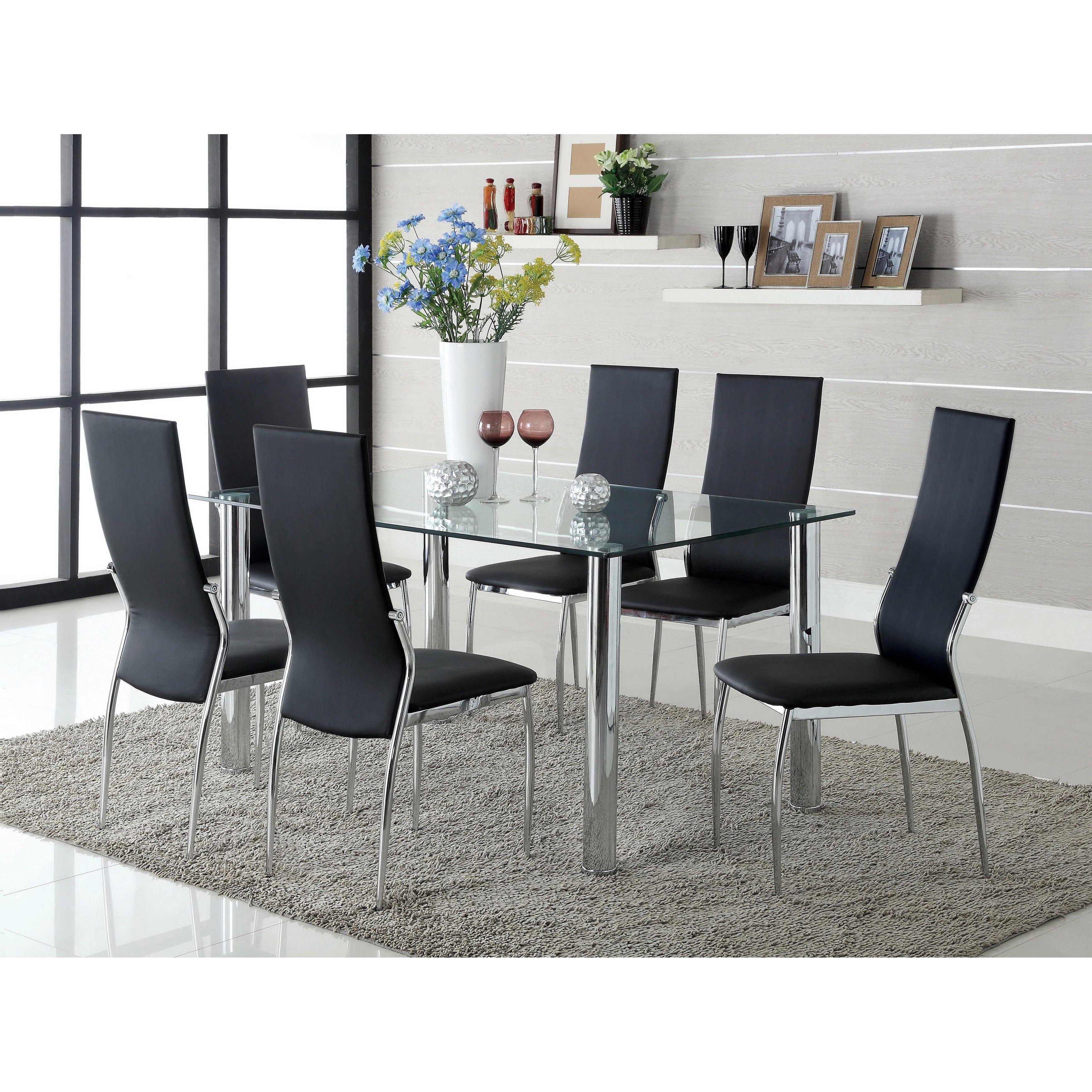 Furniture of America Duarte Modern Leatherette Dining