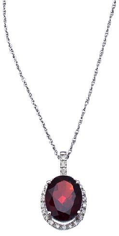 Viducci garnet diamond pendant necklace amethysts and garnets viducci garnet diamond pendant necklace aloadofball Image collections