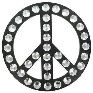 Peace Sign With Gems Wall Decoration Hobby Lobby